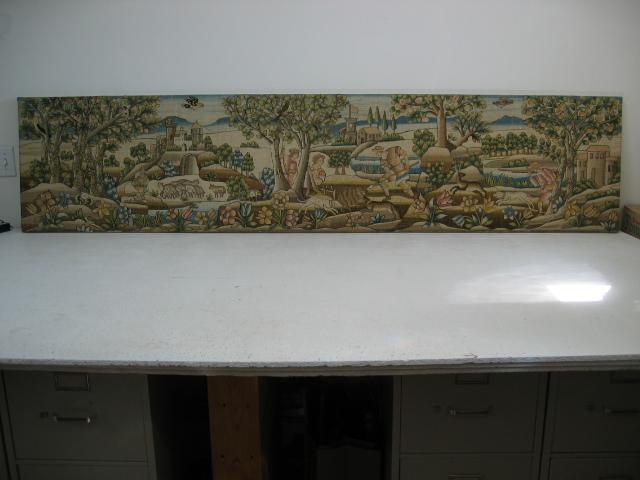 Kathleen Taylor - Long Italian Silk Floss Embroidered Panel