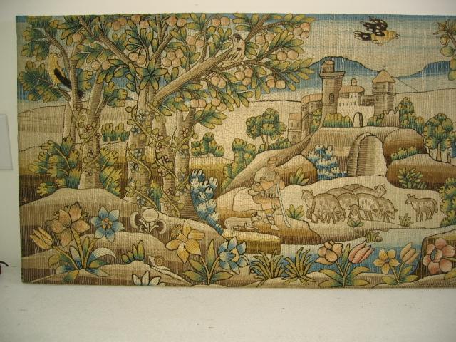 Kathleen Taylor - Long Italian Silk Floss Embroidered Panel Detail 1